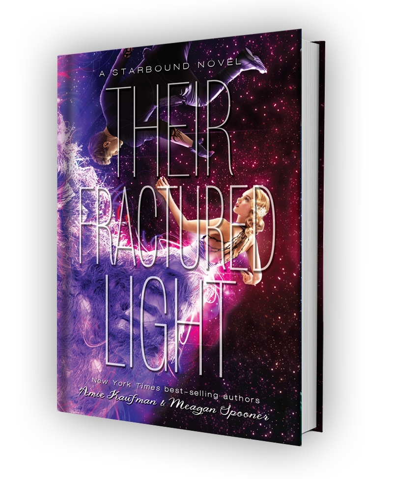 Cover for THEIR FRACTURED LIGHT by Amie Kaufman and Meagan Spooner